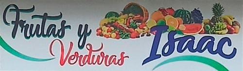 Aviso de frutas y verduras isaac